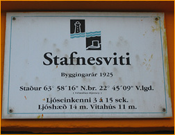 Info-Schild am Stafnesviti